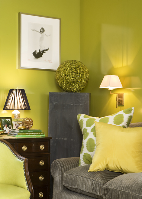 Amanda Nisbet Fair Of Grey and Chartreuse Living Room Pictures