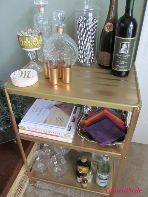 DIY Barcart by ConfettiStyle 1