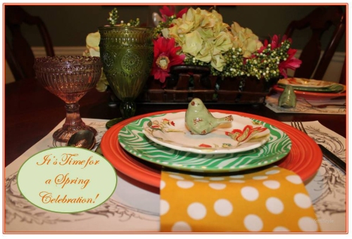 Spring Table Setting by ConfettiStyle5