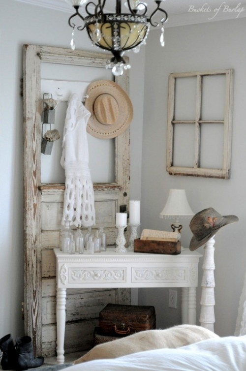 Wall decor doors room ornament - Old door decorating ideas ...