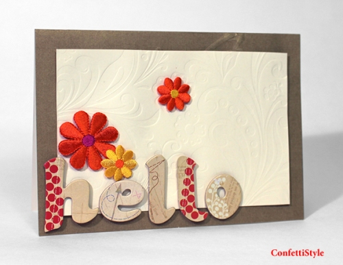 Hello Card by ConfettiStyle